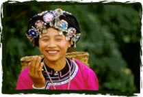 young girls of the Ho ethnic minority during a travel in Phong Sally province